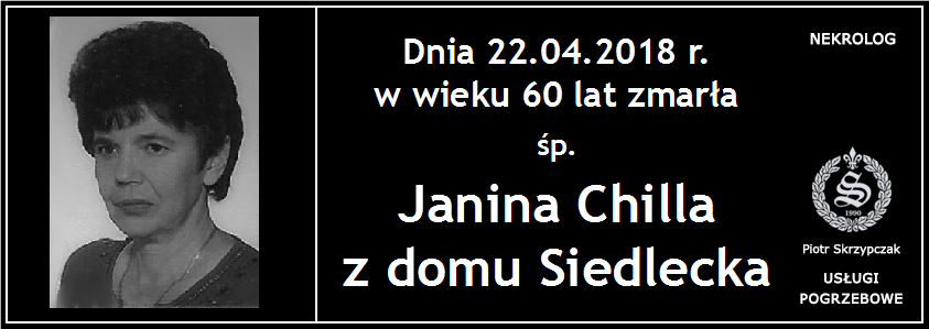 You are currently viewing Janina Chilla z domu Siedlecka