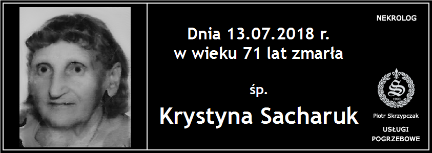 You are currently viewing Krystyna Sacharuk