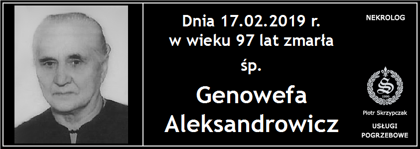 You are currently viewing Genowefa Aleksandrowicz