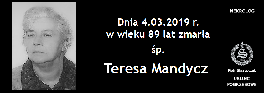 You are currently viewing Teresa Mandycz