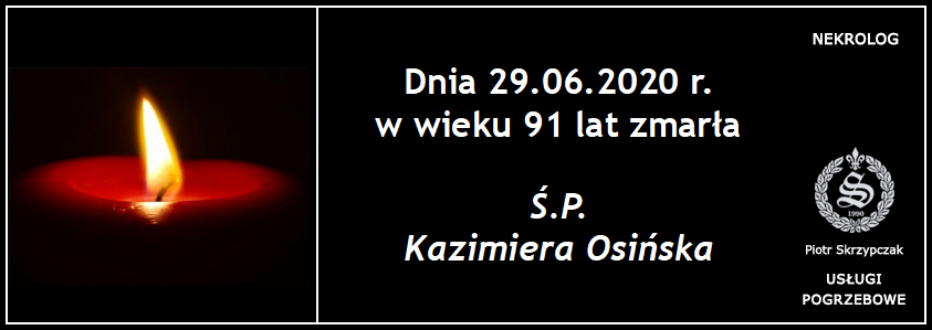 You are currently viewing Kazimiera Osińska